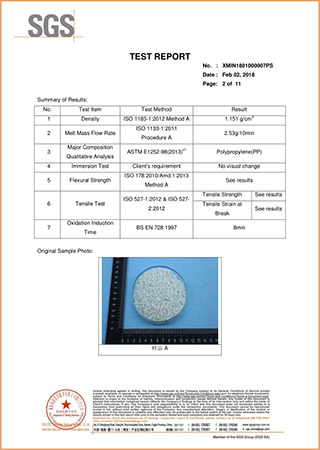 SGS Plastic Granule